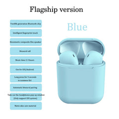 Wireless Bluetooth headset, Sky Blue, Fashion Extra