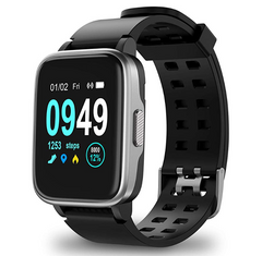 Black Color Fitness Tracker ID205 Smartwatch