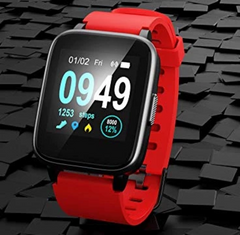 Red Color Fitness Tracker ID205 Smartwatch