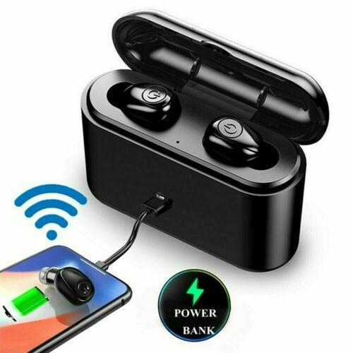 black x8s earbuds with charging case