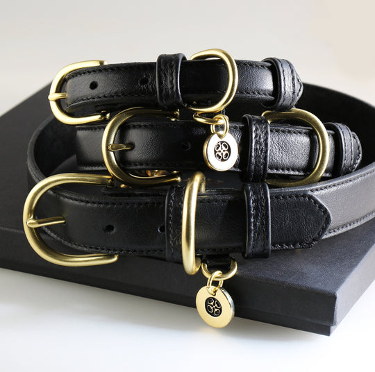 Luxury genuine leather dog collars