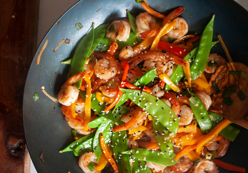 Ginger Shrimp Snow Pea Stir-Fry