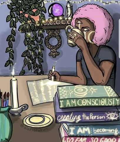 image of black girl drawn. conscience black girl drawing