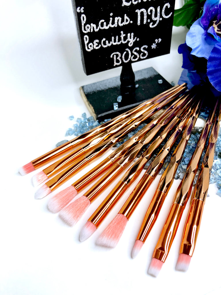 'CAIRO' 10 Piece Eyeshadow Brush Set