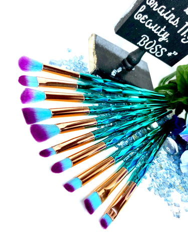 'NAIROBI' 10 Piece Eyeshadow Brush Set