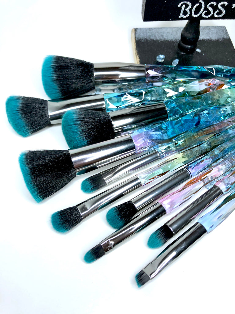 'SÃO PAULO' 10 Piece Face and Eyeshadow Brush Set