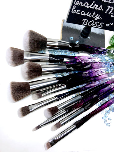 'ACCRA' 10 Piece Face and Eyeshadow Brush Set