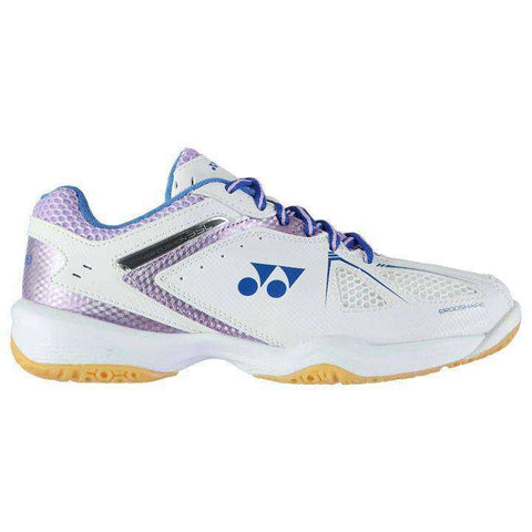 Yonex Power Cushion 35 white/lavender L-Indoor Shoes-Le Coin Badminton | Pickleball | Tennis