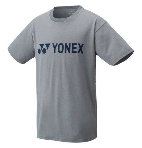 Yonex T-Shirt 16321 Logo T Grey-Men Apparel-Le Coin Badminton | Pickleball | Tennis