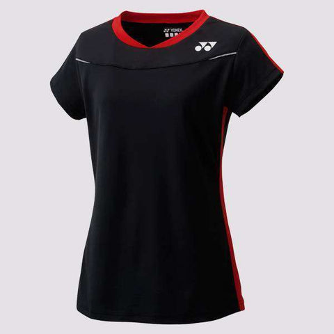 Yonex T-Shirt 20372 Black-Women Apparel-Le Coin Badminton | Pickleball | Tennis