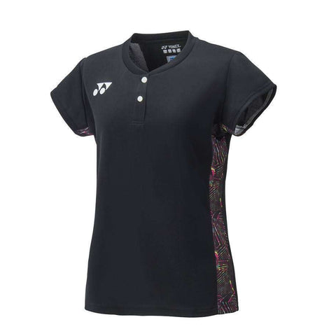 Yonex 20412 Cap Sleeve Black-Women Apparel-Le Coin Badminton | Pickleball | Tennis