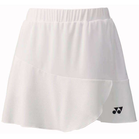 Yonex Skirt 26027 White-Women Apparel-Le Coin Badminton | Pickleball | Tennis
