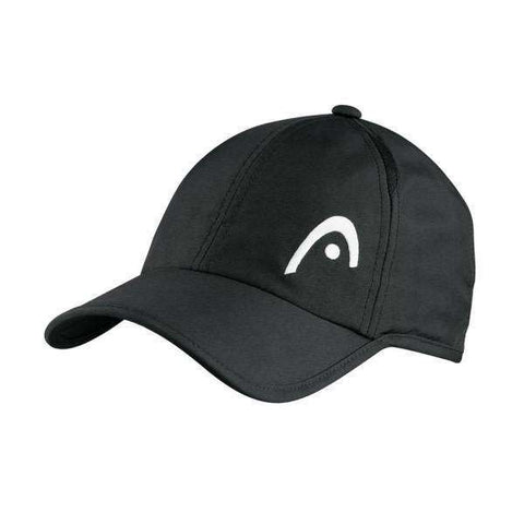Head Pro Player Cap Black-Hats-Le Coin Badminton | Pickleball | Tennis