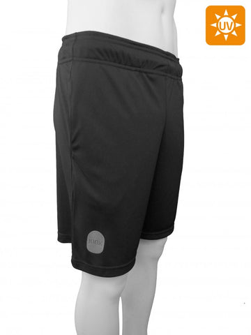 Ionik Short 4910UV Black-Men Apparel-Le Coin Badminton | Pickleball | Tennis