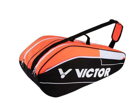 Victor BR6211OC Orange/Black 2 compartments-Bags-Le Coin Badminton | Pickleball | Tennis