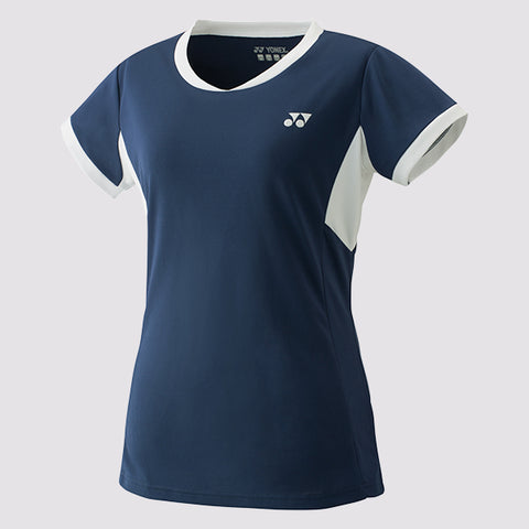 Yonex YW0010EX Women's Team Crew Shirt Blue-Women Apparel-Le Coin Badminton | Pickleball | Tennis
