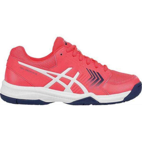 Asics Gel Dedicate 5 Femme - Rose Diva / Blanc / Bleu-Chaussures de Plein Air-Le Coin Badminton | Pickleball | Tennis