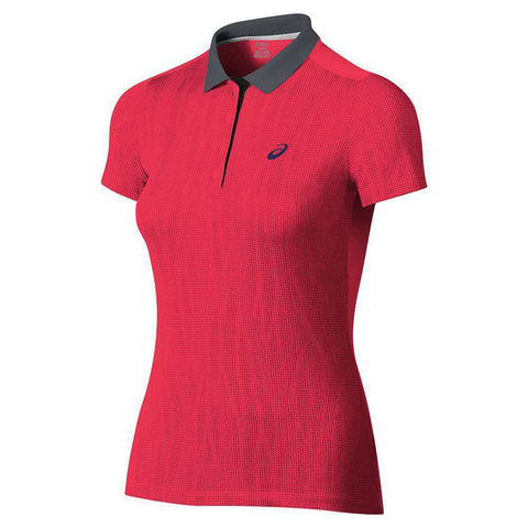 Asics Women Polo Racer GPX-Women Apparel-Le Coin Badminton | Pickleball | Tennis