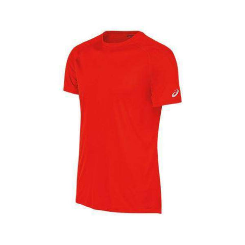 Asics T-Shirt MR2572 Red-Men Apparel-Le Coin Badminton | Pickleball | Tennis