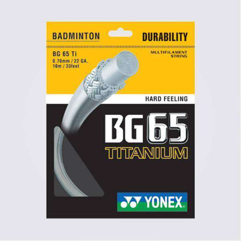 Yonex BG65 Ti (10m)-Badminton Strings-Le Coin Badminton | Pickleball | Tennis