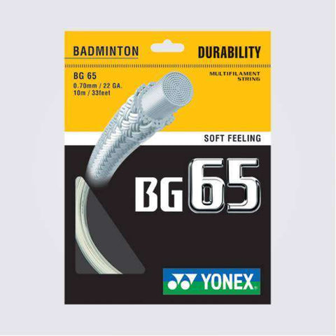 Yonex BG65 (10m)-Badminton Strings-Le Coin Badminton | Pickleball | Tennis