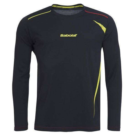 Babolat Long Sleeve Shirt 40S1545 Dark Grey-Men Apparel-Le Coin Badminton | Pickleball | Tennis