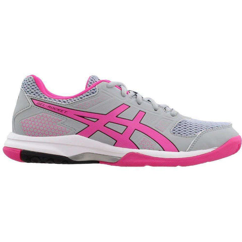 Asics Gel Rocket 8 L Mid Grey/Pink-Indoor Shoes-Le Coin Badminton | Pickleball | Tennis