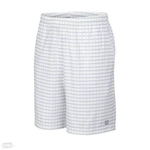 Wilson B SP Outline 7 Short White/Pearl Gray-Kids Apparel-Le Coin Badminton | Pickleball | Tennis