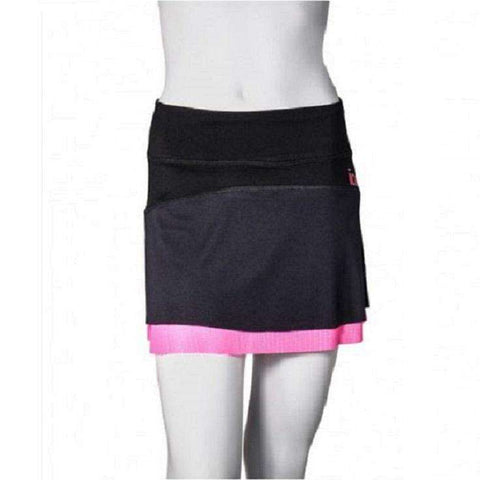 Ionik Skirt 2302UV Black-Women Apparel-Le Coin Badminton | Pickleball | Tennis