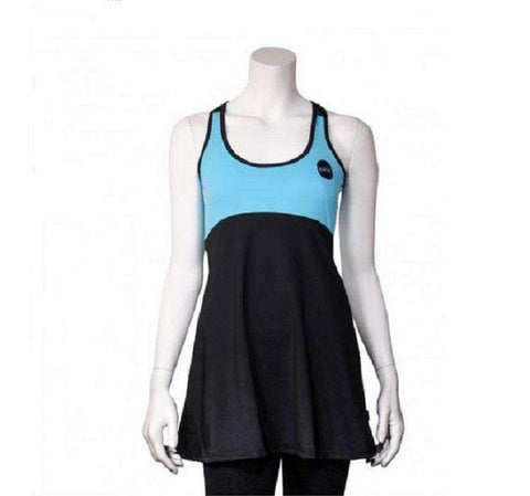 Ionik Dress 2525UV Black/Turquoise-Women Apparel-Le Coin Badminton | Pickleball | Tennis