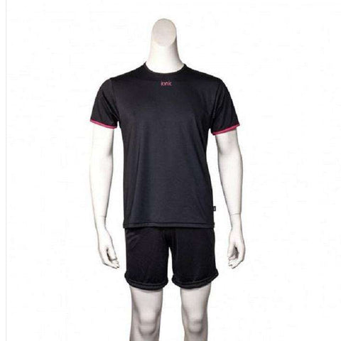 Ionik T-shirt 4010T Black-Men Apparel-Le Coin Badminton | Pickleball | Tennis