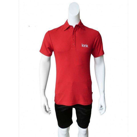Ionik Polo 4040KP Red-Men Apparel-Le Coin Badminton | Pickleball | Tennis