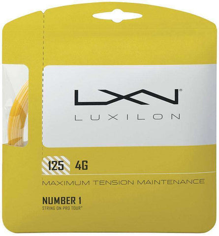 Cordes de tennis Luxilon 4G 125-Le Coin Badminton | Pickleball | Tennis