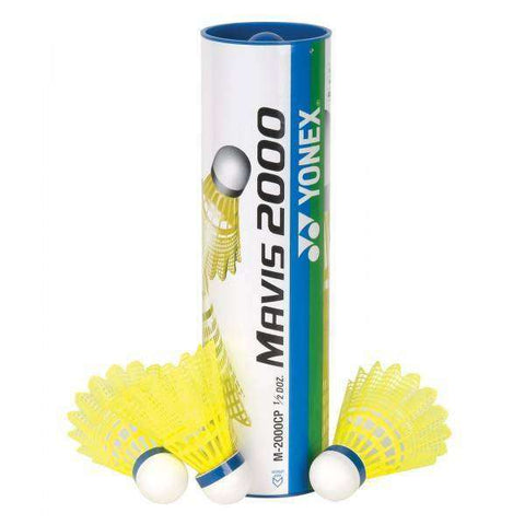 Yonex Mavis 2000 Yellow (Nylon)-Shuttlecocks-Le Coin Badminton | Pickleball | Tennis