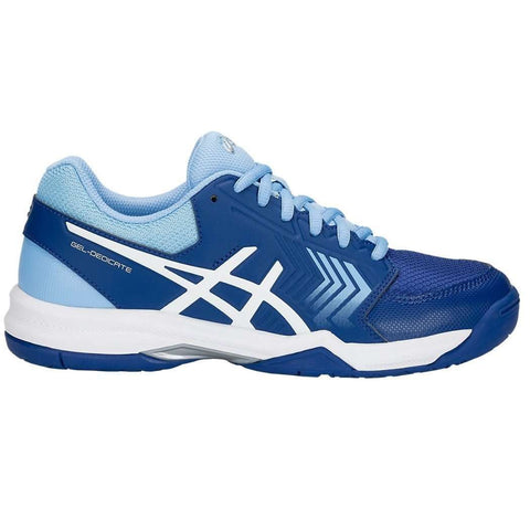Asics Gel Dedicate 5 L - Chaussures de plein air Monaco / Bleu-Blanc-Le Coin Badminton | Pickleball | Tennis