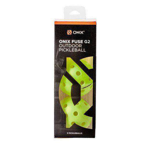 Onix Fuse G2 Outdoor 3-Pack Green-Pickleball Balls-Le Coin Badminton | Pickleball | Tennis