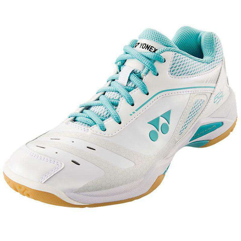 Yonex Power Cushion 65 X Ladies White/Mint-Indoor Shoes-Le Coin Badminton | Pickleball | Tennis