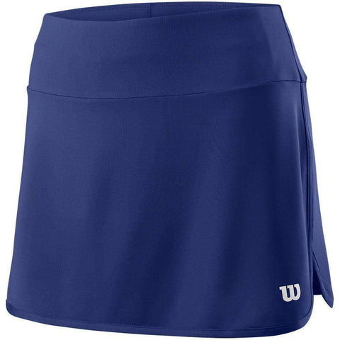 Wilson W Team 12.5 Skirt Blue Depth-Women Apparel-Le Coin Badminton | Pickleball | Tennis