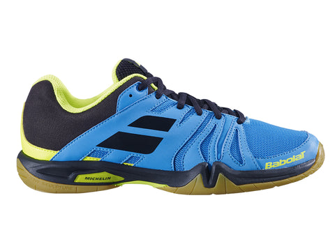 Babolat Shadow Team Hommes Bleu / Jaune-Chaussures Indoor-Le Coin Badminton | Pickleball | Tennis