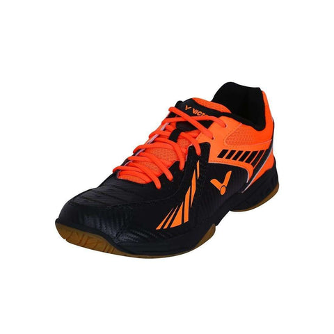 Victor AS-33-CO Black/Orange Men-Indoor Shoes-Le Coin Badminton | Pickleball | Tennis