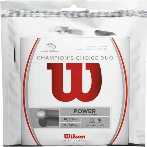 Wilson Champion's Choice Duo (ALU Rough 16L + Natural Gut 16)-Tennis Strings-Le Coin Badminton | Pickleball | Tennis