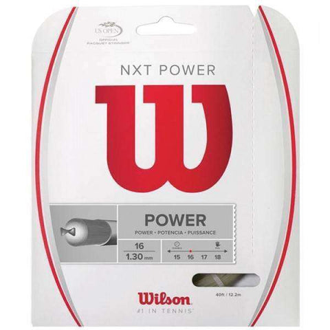 Wilson NXT Power 16-Tennis Strings-Le Coin Badminton | Pickleball | Tennis