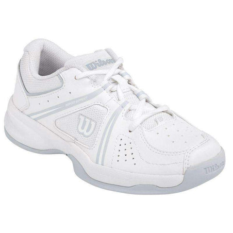 Wilson Envy JR Wh/Pearl Gray-Outdoor Shoes-Le Coin Badminton | Pickleball | Tennis