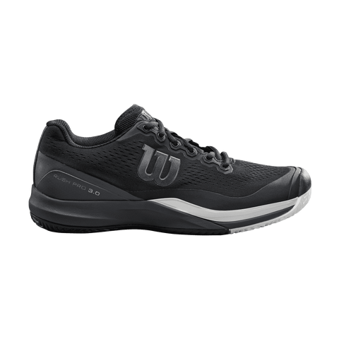 Wilson Rush Pro 3.0 Bk/Ebony/Wh-Outdoor Shoes-Le Coin Badminton | Pickleball | Tennis