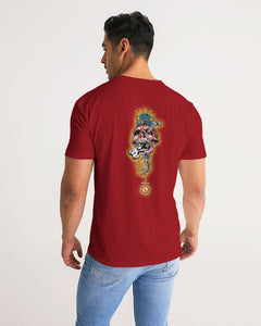 CRAZY SKULL RED MEN´S TEE - Esedece skateboards