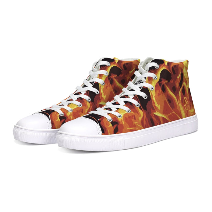 FIRE HIGHTOP CANVAS SHOE - Esedece skateboards