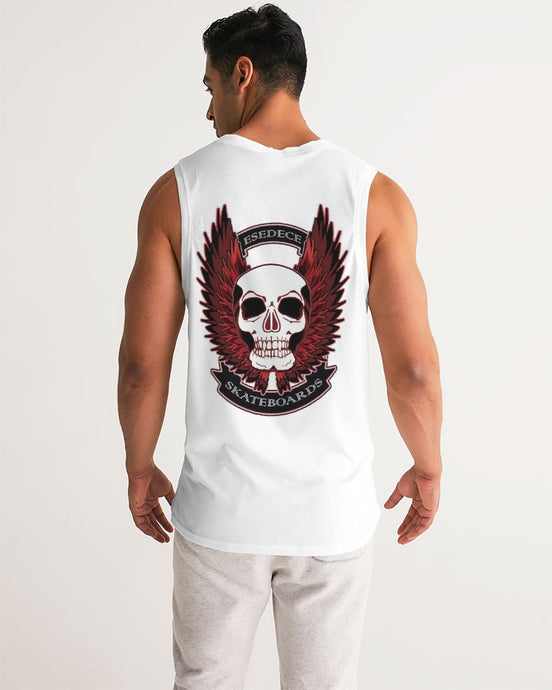 WINGED SKULL WHITE MEN´S SPORT TANK - Esedece skateboards