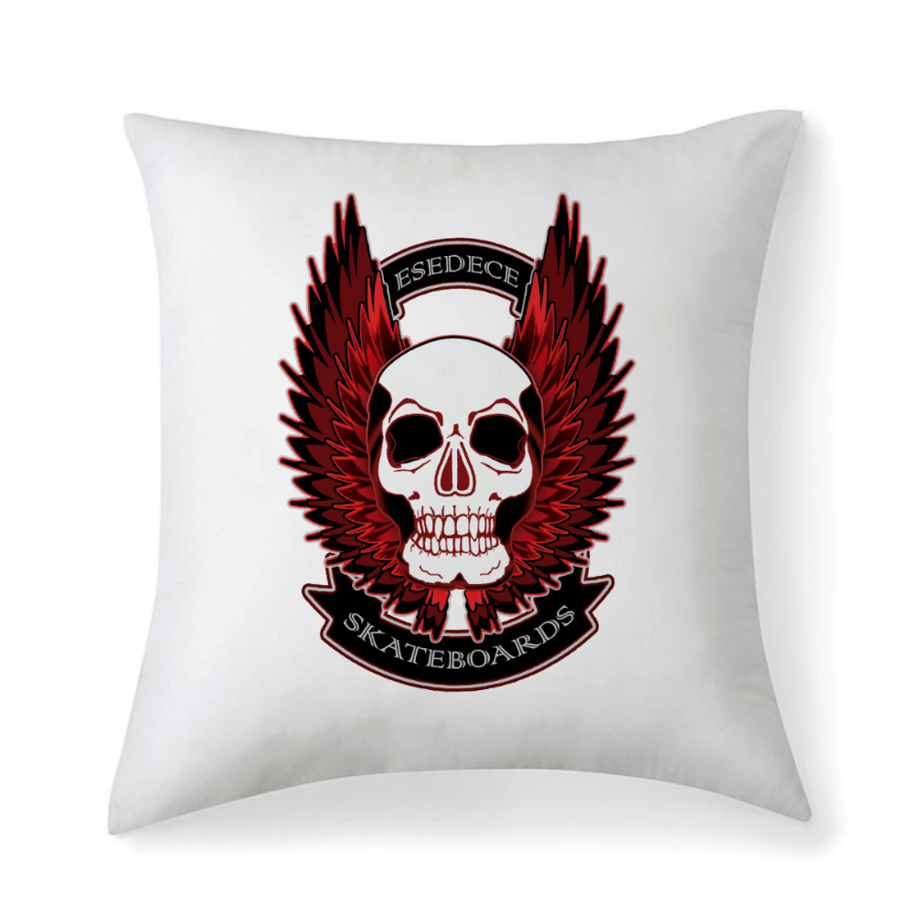WINGED SKULL ESEDECE SKATEBOARDS CUSHION / PILLOW - Esedece skateboards
