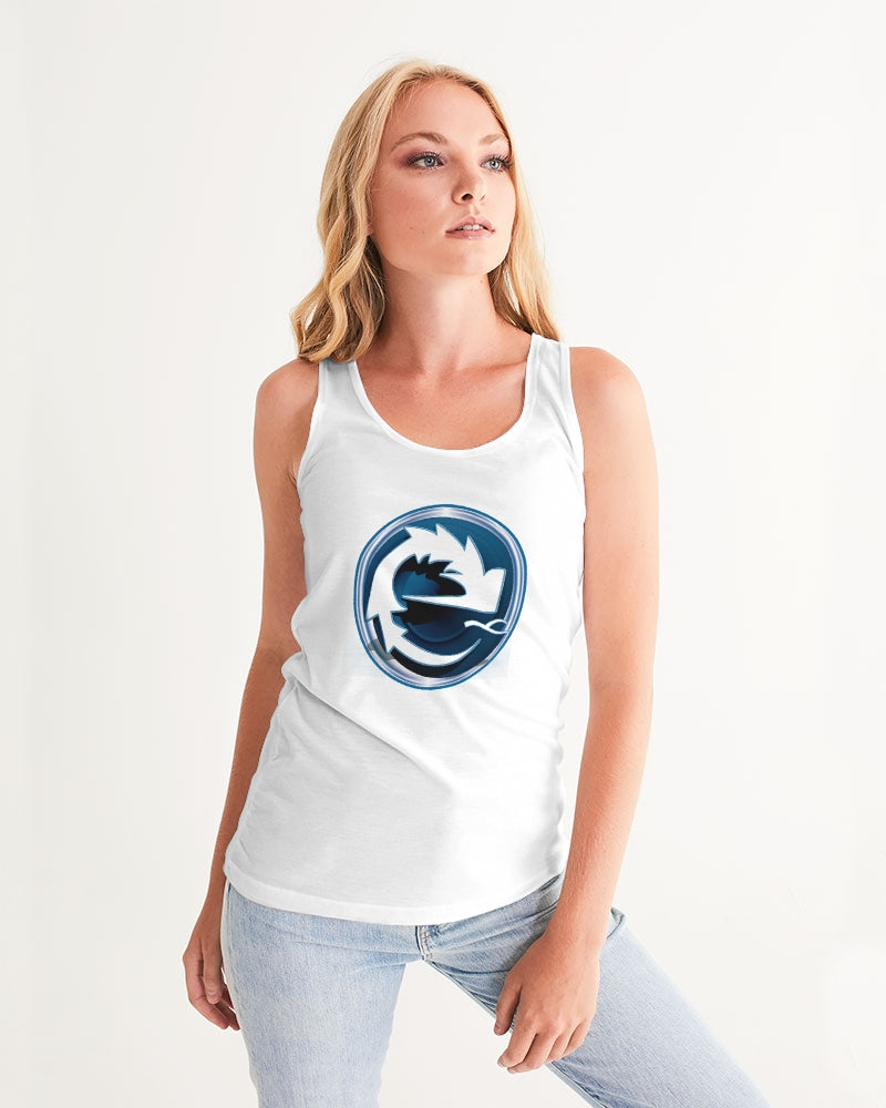 NAUGHTY BLUE WHITE WOMEN´S TANK - Esedece skateboards