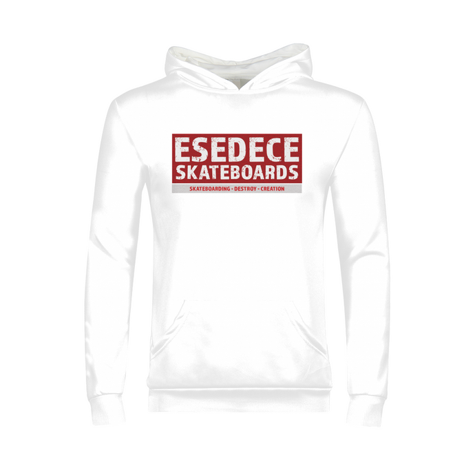 SKATE PHILOSOPHY WHITE KIDS´S HOODIE - Esedece skateboards